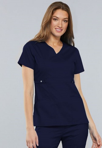 Image For NURSING - SCRUB TOP WOMEN'S - MOCK WRAP